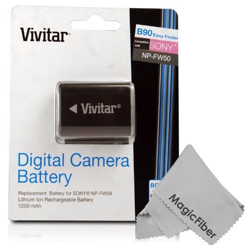 Vivitar Np-Fw50 Ultra High Capacity 1200Mah Li-Ion Battery For Sony Alpha A7, A7R, A3000, Nex-7, Nex-6, Nex-5N, Nex-5R, Nex-5, Nex-F3, Nex-3N, Nex-C3, Nex-3, Cyber-Shot Dsc-Rx10, Slt A55, A37, A35, A33 (Sony Np-Fw50 Replacement)