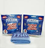 Fizzion Concentrated Cleaner Refill Tablets (2-8 Pack) Bags With Fizzion Dirt Buster Microfiber Cleaning Towel