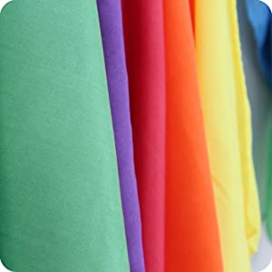 """Vibrant Rainbow Play Silks, Set of 6, 35"""" Squares by Camden Rose"""