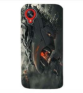 Fuson 3D Printed Demon Designer Back Case Cover for LG Google Nexus 5 - D1050