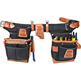 Occidental Leather 9850 Adjust-to-Fit(TM) Fat Lip(TM) Tool Bag Set - Black