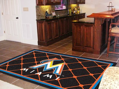 MLB - Miami Marlins 5 x 8 Rug