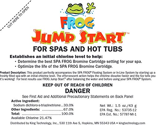 2) Spa Frog 01-14-6012 Hot Tub Mineral Jump Start Shock Chlorine Packets (Pair) (Spa Frog Starter Kit compare prices)