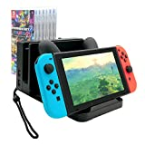 Multi-functional Charging Dock for Nintendo Switch with Storage for Dock and 6 pcs Game Card Box