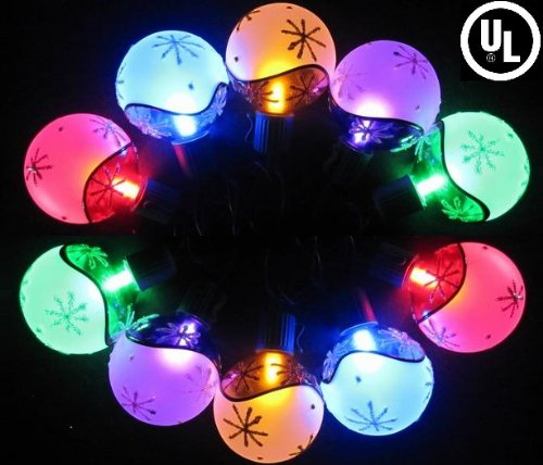 Gowise Usa Gw21906 Party Christmas Led Stringlights W/ Multi-Color Snowflake Globe