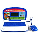 'Intelligent Bookworms' Bilingual Educational Toy Laptop for Kids, Learn & Play in English/Spanish, 60 Fun Activities/Games about Language, Math, Music (Blue)