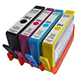 4 HP Compatible 364XL Black (550 Pages) Cyan Magenta Yellow Ink Cartridges for B110a Printer *READY TO USE*