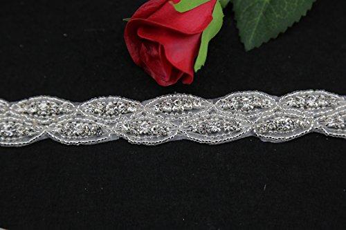 QueenDream-Rhinestone-Applique-Crystal-Applique-for-Bridal-Sash-best-seller-Applique-trim-Hot-Sale-Applique-Accessories-1-yard