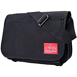 Manhattan Portage Europa with Back Zipper and Compartments, Black, One Size