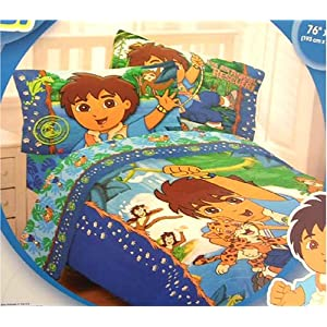 Dora Bedding: Go Diego Go! Twin Sheet Set Price on Sale