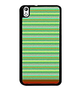PrintDhaba Tribal Pattern D-1720 Back Case Cover for HTC DESIRE 816 (Multi-Coloured)
