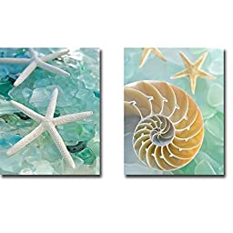 Seaglass I & II by Alan Blaustein 2-pc Premium Gallery-Wrapped Canvas Giclee Art Set (Ready-to-Hang)