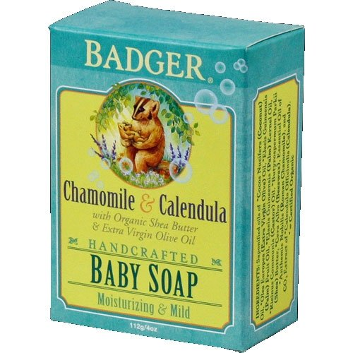Badger - Badger Chamomile & Calendula Baby Soap, 4 oz bar