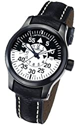 Fortis Mens Watch Aviation B-42 Flieger Black Cockpit GMT Limited Edition Automatic 672.18.11 L01