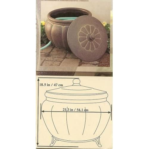 Garden Hose Storage Pot With Lid Lawn And Garden Containers Patio Lawn Garden