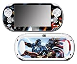 Avengers 2 Movie Iron Man Thor Captain America Hulk 3 Age of Ultron Thanos Video Game Vinyl Decal Skin Sticker Cover for Sony Playstation Vita Regular Fat 1000 Series System
