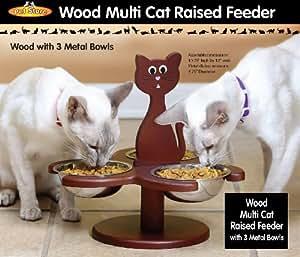 WOOD MULTI-CAT RAISED FEEDER