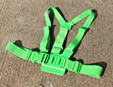 JMT 1Piece Adjustable Pectoral Girdle Chest Fitted Shoulder Strap Belt Mount Harness Green for Gopro HD Hero 3 2 Camera