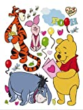 Posters: Winnie The Pooh Poster-Sticker Wall-Tattoo - Winnie And Friends (34 x 26 inches)