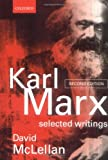 Karl Marx: Selected Writings (0198782659) by McLellan, David
