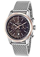 Breitling Men's Transocean Automatic Chronograph 38 Silver-Tone Steel Brown Dial from Breitling