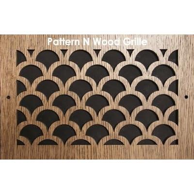 16 x 16 Cherry Wood Air Grille/Air Return. Pattern