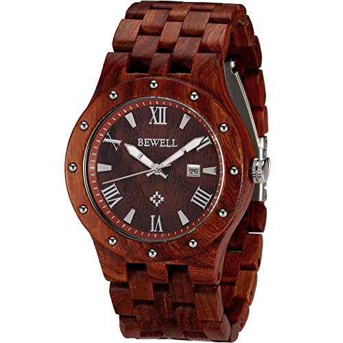Wonbee-Handmade-Wooden-Watches-for-Men-100-Natural-Red-Sandal-Wood-Mens-Wristwatch-With-Date-Create-Gift-for-Men