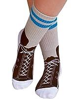 Foot Traffic Women's Non Skid Sneaker Slipper Socks