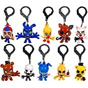 "Fnaf Officially Licensed Five Nights At Freddys 3"" Figure Hangers Set Of 10 Toys Includes: Chase Piece ""Golden..."
