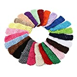 Baby Girl Headbands Elastic Crochet Hair Bands Hair Accessories Pack of 50 (Color: multicolored, Tamaño: Small)