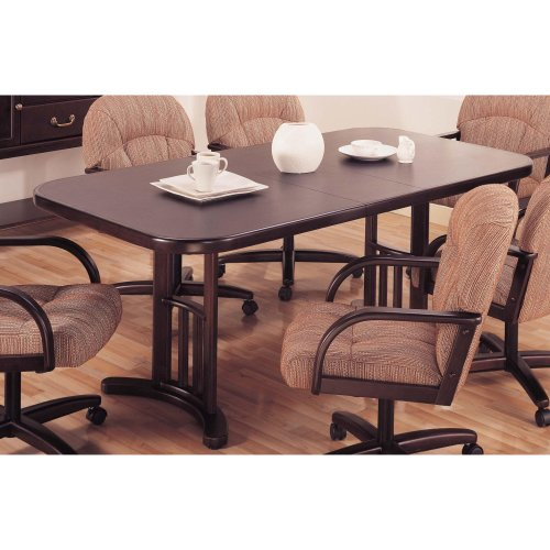 Hillsdale Versailles Rectangular Trestle Casual Dining Table in Merlot Finish