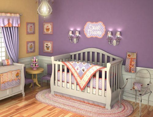 DK Leigh Crib Nursery Bedding Set, Distinctive Cupcake Baby, 10 Piece image