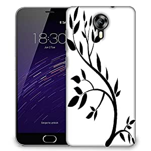 Snoogg design element graphic drawing of a brunch with leaves Designer Protective Back Case Cover For Meizu M2