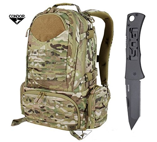 Condor Titan Assault Pack with MultiCam + FREE Gerber Swagger Knife & ResQMe