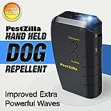 PestZilla™ Dog Repellent and Trainer + LED Flashlight / Handheld Ultrasonic Dog Deterrent and Bark Stopper + Dog Trainer Device [UPGRADED VERSION]