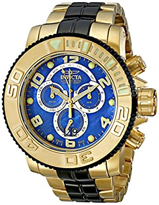 Invicta Men's 10768 Sea Hunter Analog Display Swiss Quartz Two Tone Watch