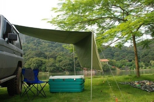 2.8M Awning Camper Trailer Roof Top Tent Beach Camping SUVs Truck Car Rack UV Reviews
