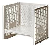 サンコープラスチック 収納棚ユニット イーラック L ベージュ