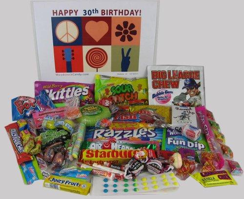 Retro Nostalgic Candy Gift Box for 30th Birthday Celebration