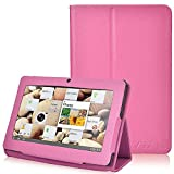 NSSTAR Folio Stand Faux Leather Case Cover Flip Protection Guard Case Cover for 7 Inch Android Tablet Q88 (Hot pink)
