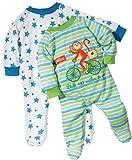 Baby Butt Schlafanzug 2er-Pack mit Druckmotiv Affe und Sterne Interlock-Jersey