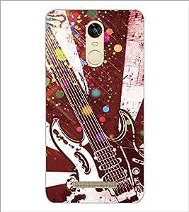 Printdhaba Guitar D-3232 Back Case Cover For Xiaomi Redmi Note 3 (Media Tek)
