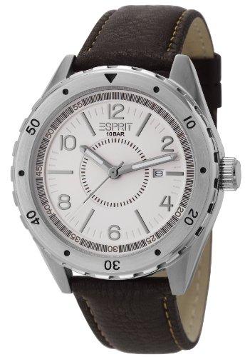esprit-herren-armbanduhr-xl-alamo-brown-analog-quarz-leder-es105541002