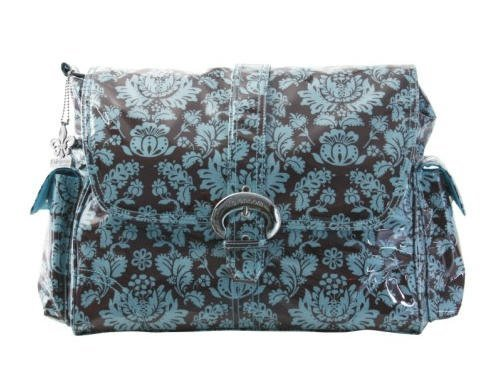 Kalencom Laminated Buckle Bag, Toile Chocolate/Blue - 1