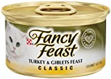 Fancy Feast Gourmet Cat Food, Turkey & Giblets Feast, 3-Ounce Cans (Pack of 24)
