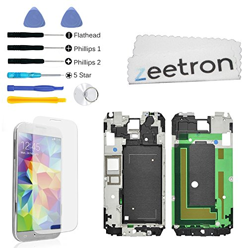 Zeetron Premium Replacement Kit For Samsung S5 Lcd Bezel Chassis Frame I9600 G900, G900F, G900A, G900V, G900P, G900R4, G900T (All Carriers)