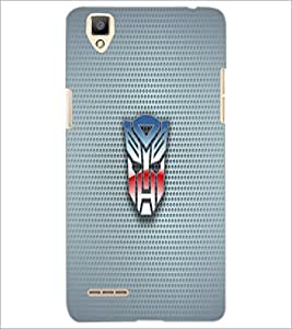 PrintDhaba Mask D-1818 Back Case Cover for OPPO F1 (Multi-Coloured)