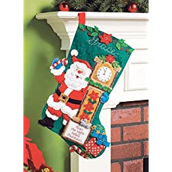 Bucilla Twas The Night Stocking Felt Applique Kit-18 Long