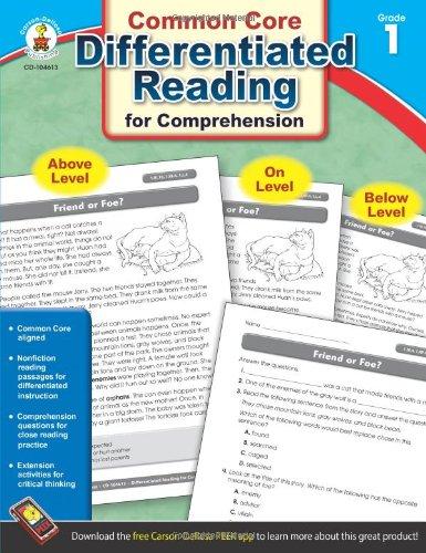 Common Core Differentiated Reading Comprehension, Grade 1