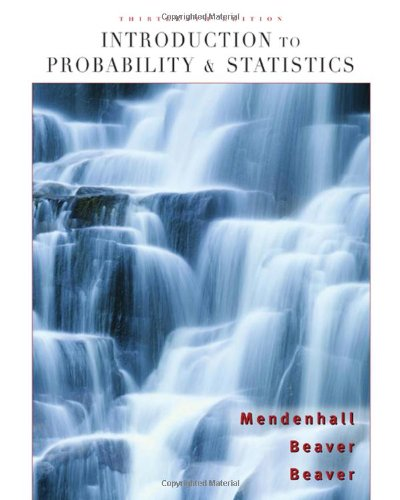 Introduction to Probability and Statistics (Available...